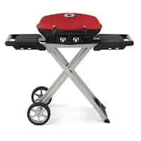 TravelQ 285 Portable Gas Grill and Scissor Cart with Griddle