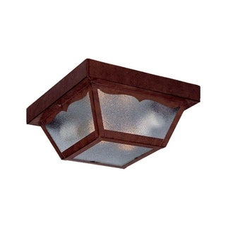 Link to Builder's Choice Exterior 2 -Light Burled Walnut Ceiling Light Similar Items in Outdoor Ceiling Lights