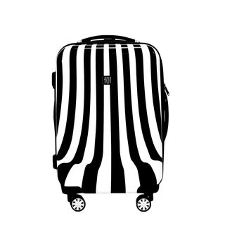 Ful White Swirl 20-inch Carry On Hard-side Spinner Upright Suitcase