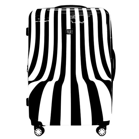 Ful White Swirl 28-inch Hard-side Spinner Upright Suitcase