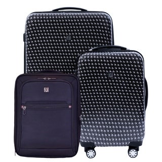 Ful Metal Chain 3-piece Hard-side Spinner Luggage Set