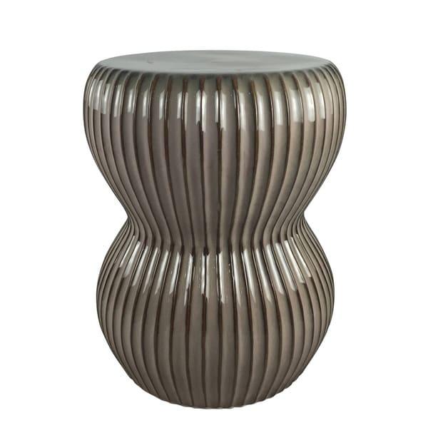 Sagebrook Home 13413 Ceramic Garden Stool, Bronze Ceramic, 14 X 14 X 17.75  Inches