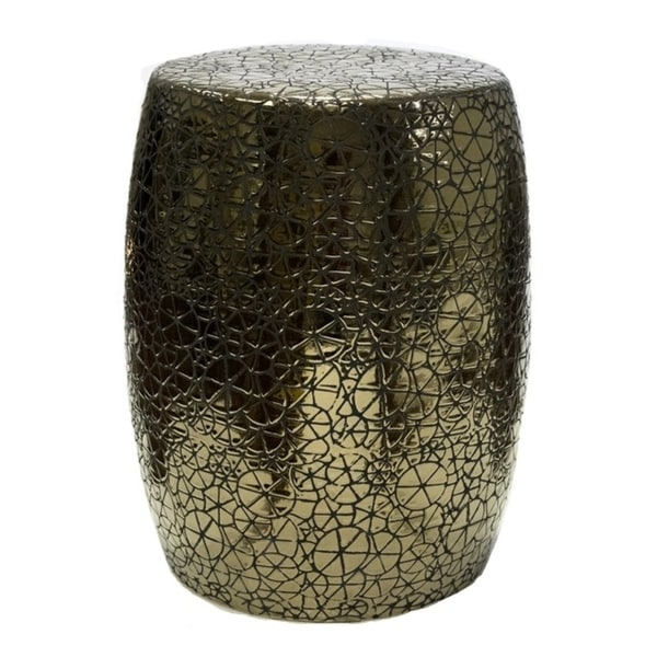 Sagebrook Home Fc10262 02 Modern Garden Stool Gold Ceramic 14 5 X 18 Inches Free Shipping Today 21295719