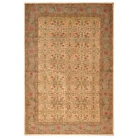 Handmade Herat Oriental Turkish Hand-knotted Tribal Kayseri Wool Rug - 6'7 x 9'11 (Turkey)