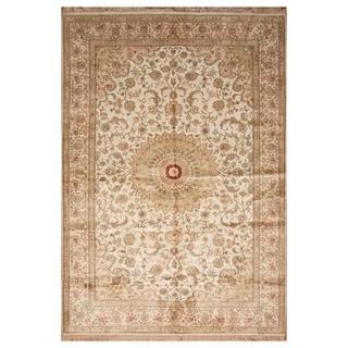 Handmade Silk Qum Rug (India) - 6' x 9'