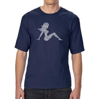 LA Pop Art Men's Tall Word Art T-shirt - MUDFLAP GIRL
