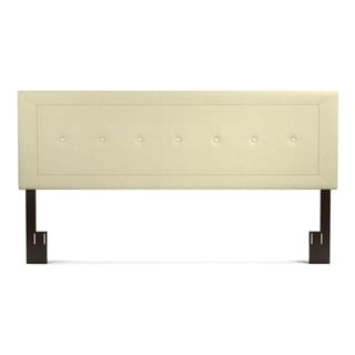 Handy Living Kaylee Cream Button Tufted Upholstered King Headboard