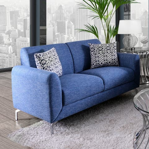 Furniture of America Wola Contemporary Fabric Upholstered Loveseat