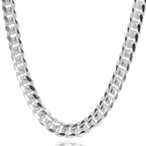 Mondevio 5mm 925 Silver Miami Cuban Curb Link Chain Necklace, 20-30 Inch