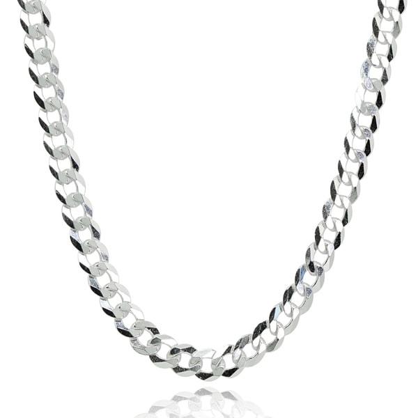 5bde3598f62bb Shop Mondevio Italian 4mm Diamond-Cut 925 Silver Cuban Curb Link ...
