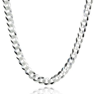 Mondevio Italian 5mm Diamond Cut 925 Silver Cuban Curb Link Chain Necklace 20 30 Inch