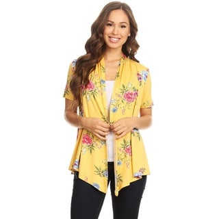 Women's Floral Pattern Cardigan