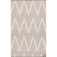 Simplicity Collection Beige/Ivory Cotton Handmade Area Rug - 9' x 12'