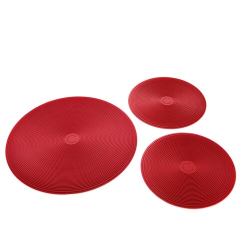 Curtis Stone Set of 3 Silicone Trivets-Refurbished