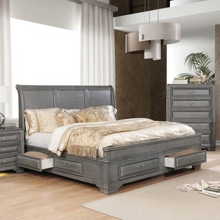 Link to Furniture of America Oslo Traditional 6-drawer Storage Platform Bed Similar Items in Bedroom Furniture