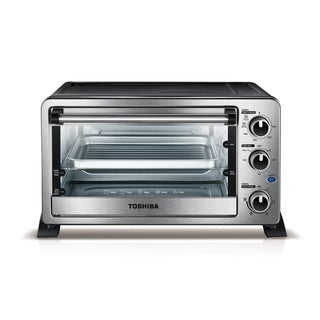 Link to Toshiba MC25CEY-CHSS 6-Slice Convection Toaster Oven, Stainless Steel Similar Items in Kitchen Appliances