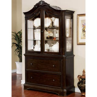 Furniture Of America Arden Traditional Walnut China Cabinet