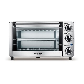Toshiba MG12GQN-CHSS 4 Slice Toaster Oven, Stainless Steel