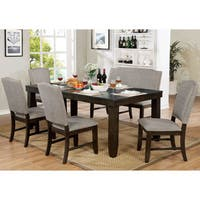 Furniture of America Manchester Dark Walnut 78-inch Dining Table - N/A