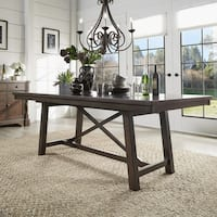 Louie Espresso X Trestle Base Extendable Dining Table by iNSPIRE Q Bold