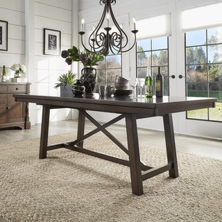 Louie Espresso X Trestle Base Extendable Dining Table by iNSPIRE Q Bold (2 options available)
