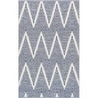 "Pasargad Simplicity Hand-Woven Navy Cotton Area Rug (9' 0"" X 12' 0"")"