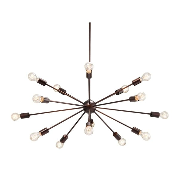 Justice Design Group No Shade Axion 15-light Dark Bronze Large Chandelier