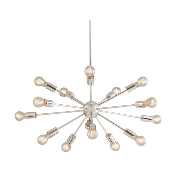 Justice Design Group No Shade Axion 15-light Polished Chrome Small Chandelier
