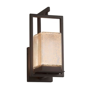 Link to Justice Design Fusion Laguna 1-light Dark Bronze LED Outdoor Wall Sconce, Mercury Glass Shade Similar Items in Outdoor Wall Lights