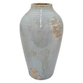 "Three Hands 18 "" Ceramic Vase in Blue"