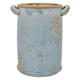"Three Hands 11.75 "" Ceramic Vase in Blue"