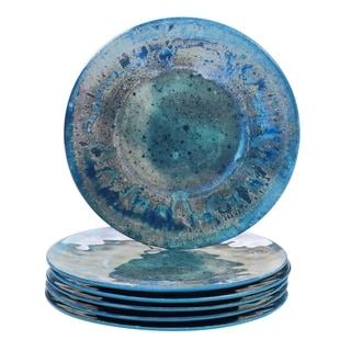 Certified International Radiance Melamine Dinner Plate (Set of 6)  sc 1 st  Overstock.com & Blue Dinnerware For Less | Overstock.com