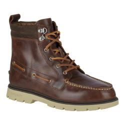 Men's Sperry Top-Sider A/O Lug Waterproof Ankle Boot Brown Leather