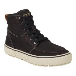 Men's Sperry Top-Sider Bahama Lug Naval Ankle Boot Black Canvas