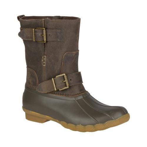 459972bce4 Shop Women s Sperry Top-Sider Saltwater Acadia Duck Boot Canteen Leather Rubber  - Free Shipping Today - Overstock - 18493139