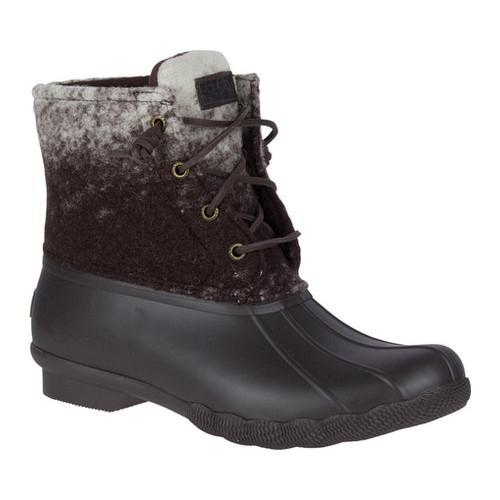 b7ea071d723 Women's Sperry Top-Sider Saltwater Duck Boot Brown/Ivory Ombre Wool/Rubber