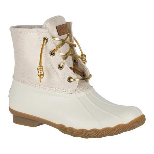 best sneakers 7f642 99d81 Women  x27 s Sperry Top-Sider Saltwater Duck Boot Oat Gold Sparkle