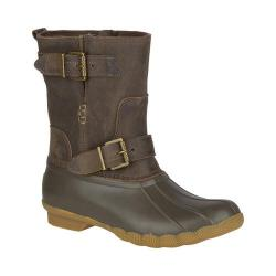 b9f3e91048 Women s Sperry Top-Sider Saltwater Acadia Duck Boot Canteen Leather Rubber