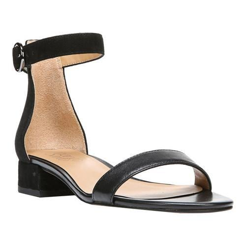 d6a833e0968 Shop Women s Franco Sarto Swan Ankle Strap Sandal Black Leather - Free  Shipping Today - Overstock - 18512646