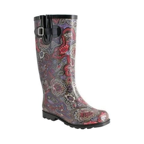 Women's Nomad Puddles Boot Berry Paisley
