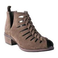 Women's Nomad Jill Peep Toe Bootie Taupe Suede