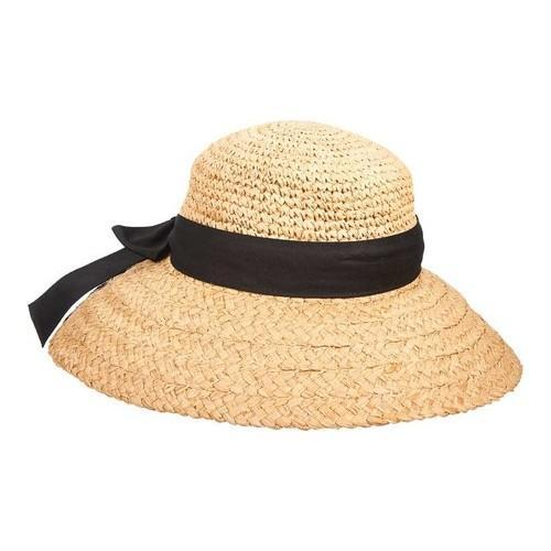 Shop Women s Scala LR651 Crocheted Crown Straw Hat Natural - Free Shipping  On Orders Over  45 - Overstock - 18512884 dbbf53a33fa