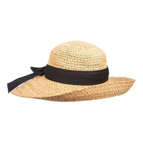 Scala Women/'s Natural Organic Raffia with Bow Sun Hat Natural
