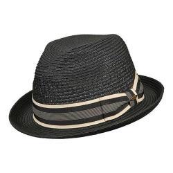Men's Scala MS32 Vent Crown Braided Fedora Black - Thumbnail 0