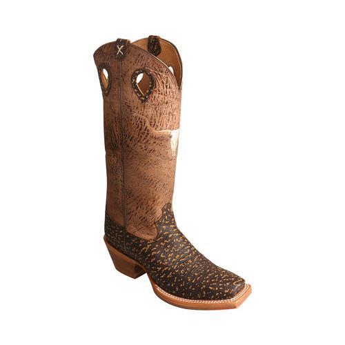 3351a0dc83b Men's Twisted X Boots MBKL014 Buckaroo Cowboy Boot Roca Chocolate/Craquel  Cafe Leather