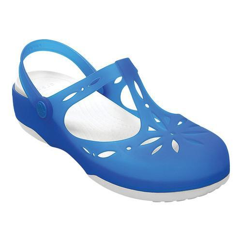 5deeb72f9 Shop Women s Crocs Carlie Cutout Clog Ocean White - Free Shipping Today -  Overstock - 18521723