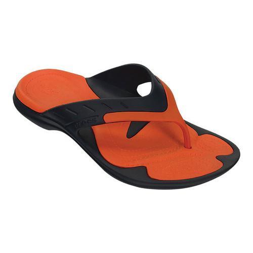 7a1af1d5fb10 Shop Crocs MODI Sport Flip Flop Sandal Navy Tangerine - Free ...