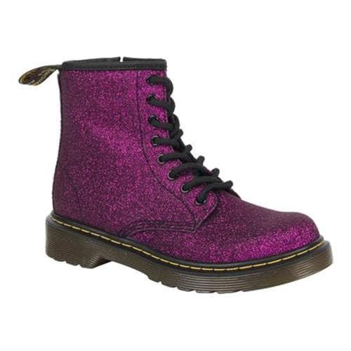 909d8ec2e0 Shop Children's Dr. Martens Delaney 8 Eye Side Zip Boot - Junior Purple  Glitter PU - Free Shipping Today - Overstock - 18530452