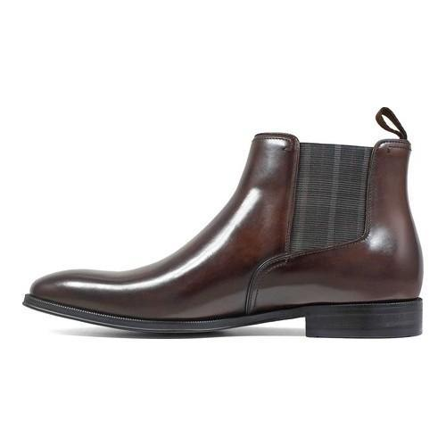 ... Men's Florsheim Belfast Plain Toe Gore Boot Brown Calf Leather
