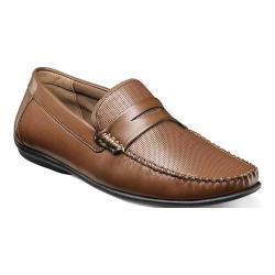 Men's Nunn Bush Quail Valley Penny Loafer Cognac Faux Leather